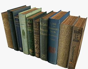 3D asset Old Books Type 9 Low Poly