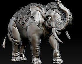 Digital Sculpture of Indian elephant 3D printable model