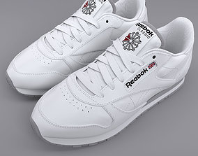 3D Reebok Classic Leather White PBR gym