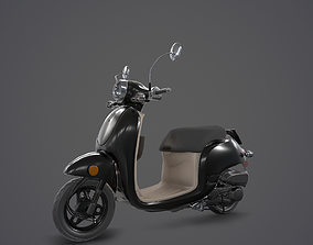 Game Ready Motorcycle 3D asset rigged
