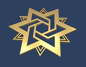 Star of David 3D religious