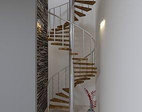spring stair 3D asset