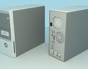 Computer 3D asset low-poly