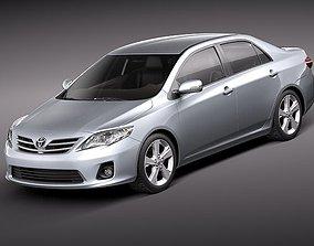 3D model Toyota Corolla 2010 sedan