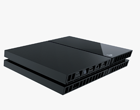 3D model Playstation 4 Console
