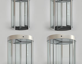 Revolving Door Set 3D model