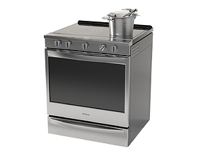 Electric Range Whirlpool WEE750H0HZ 3D