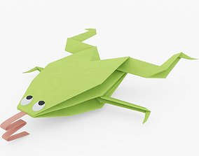 Origami Frog 3D model