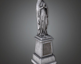 3D model CEM - Stone Statue Cemetery 7 - PBR Game Ready