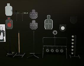 3D asset Shooting targets pack