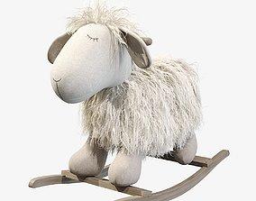 Plush Rocking Lamb 3D