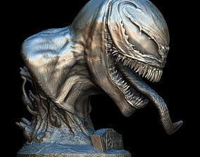3D Venom Movie Head bust
