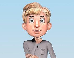 CARTOON BOY 3D model rigged