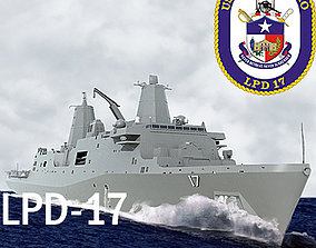 3D model US Navy LPD-17 San Antonio Class Amphibious 2