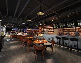 3D model coffee house dining room restaurant bakery bake