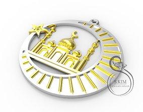 3 Muslim mosque pendants 3 different 3D printable model 1