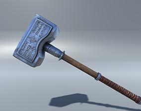 Hammer fantasy 3D model VR / AR ready PBR