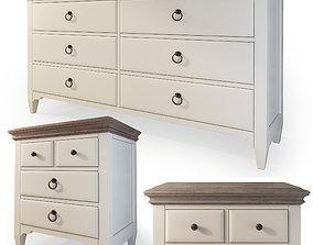 Dresser nightstand by Joss and Main Judith 3D