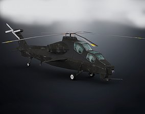 3D asset game-ready CAIC Z-10 Helicopter Low Poly