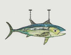 Fish Restaurant Sign 02 3D asset