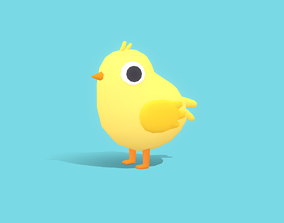 3D model Chip The Chick - Quirky Series