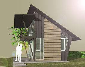 3D model HOME at WEEKEND exterior shack