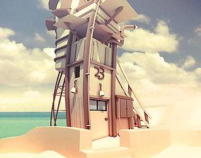 waffle 3D asset realtime Cartoon house