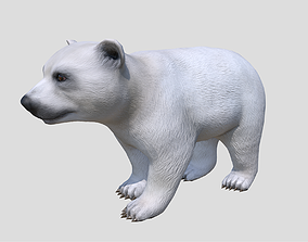 Polar Bear Cub 3D model animated low-poly