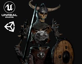 Skeleton Warrior - Game Ready 3D model