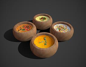 Soups 3D asset realtime