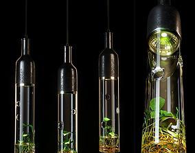 3D model Scandinavian glass chandelier