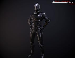 3D model Scifi-Trooper Lowpoly rigged