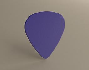 Guitarpick Thick HARD 3D printable model