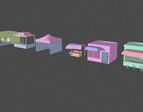Market Shops and Stalls Pack 3D model