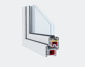 3D model Window Profile Pvc