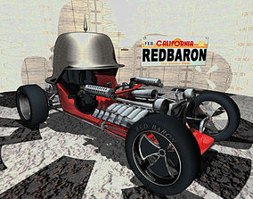 Red Baron Hot Rod 3D Model