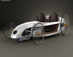 3D model Mercedes-Benz F-Cell Roadster 2009