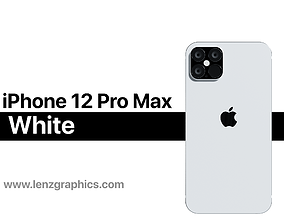 iPhone 12 Pro Max White 3D model