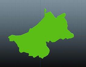 3D model Riga map symbol