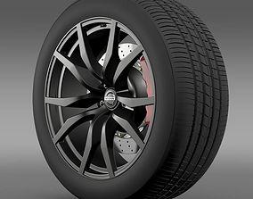 3D model Nissan GTR wheel 2015