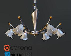 3D asset Chandelier Metal Lux Lotto 80166
