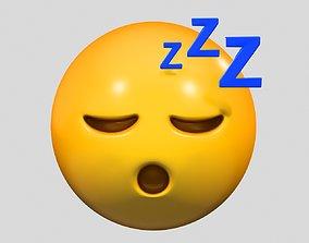 Emoji Sleeping Face 3D