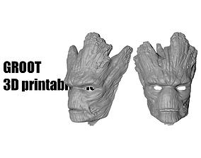 Groot mask helmet 3D printable model
