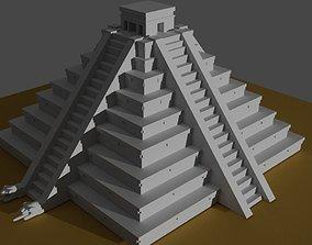 kukulkan pyramid 3D print model