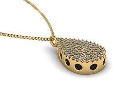 disjunct 3D print model Jewelry Pendant