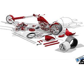 3D model Chopper CHIKA design by paX CGPdesign