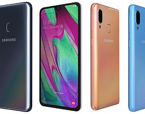 Samsung Galaxy A40 All Colors 3D
