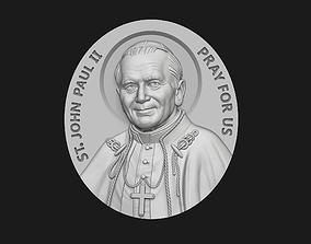 John Paul II Medallion 3D print model