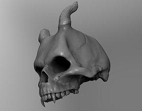 Demon skull 3D print model