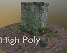 3D asset Border Stone